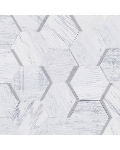 AMSTERDAM 3D HEXAGON WHITE