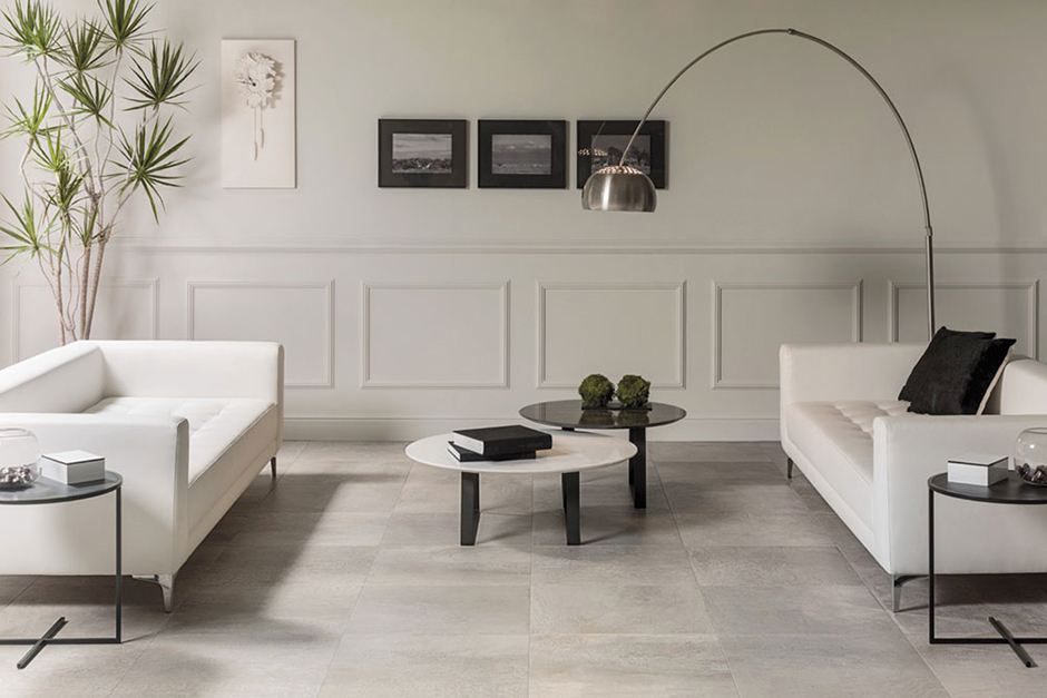 White Floor Tiles Living Room Home Design Ideas And Pictures
