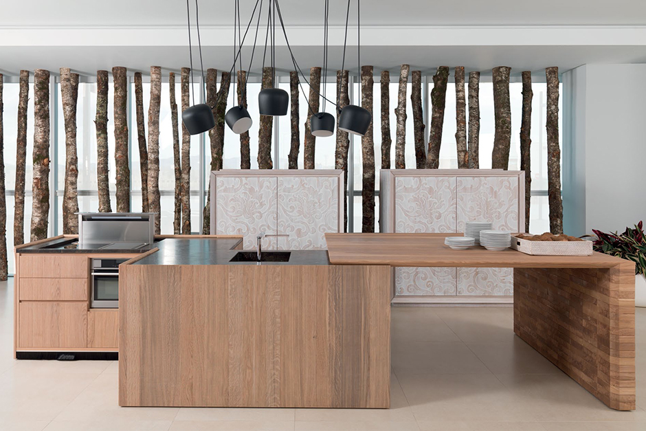Kitchen porcelanosa - Table de cuisine contemporaine ...