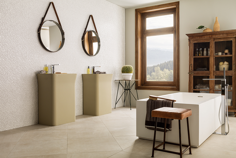 Bathroom porcelanosa - Faience cuisine beige ...