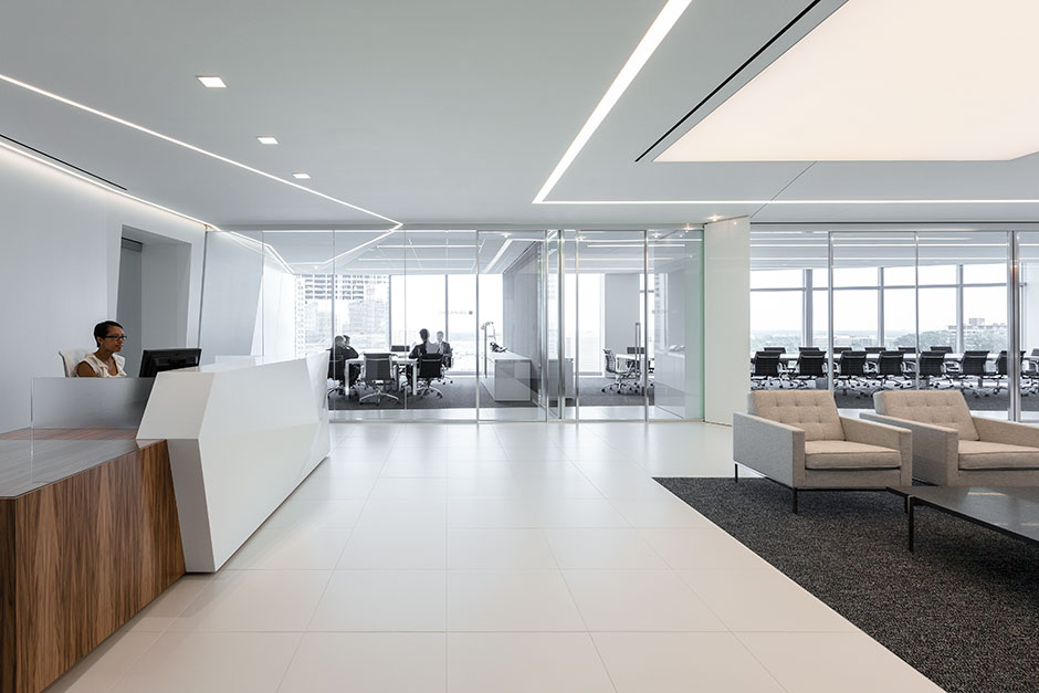 office tile flooring. Office Tile Flooring. Floor Tile: Extreme White; Custom Desk: Krion® Lux Flooring