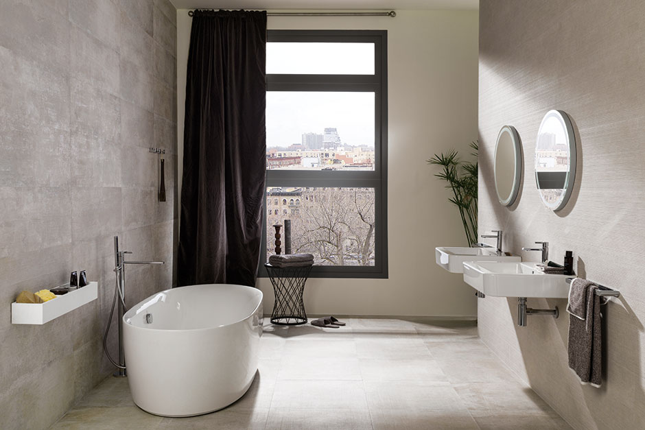 Bathroom porcelanosa for Carrelage 60x60 taupe