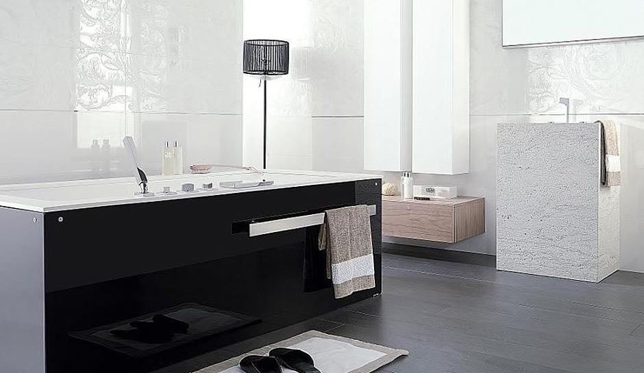 A streamlined bathroom remodel porcelanosa for Porcelanosa bathroom vanities