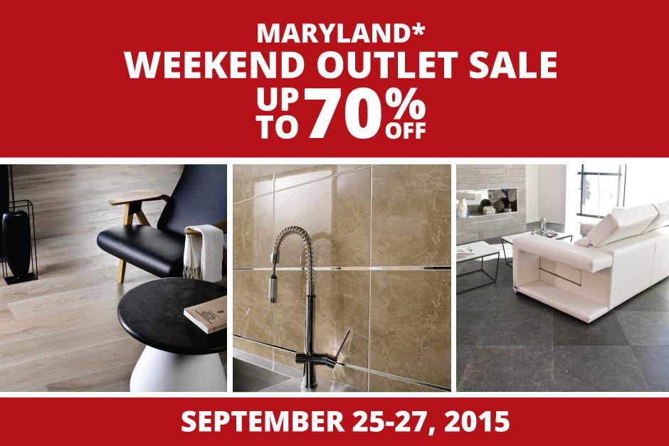 Porcelanosa Maryland* Weekend Outlet Sale   Porcelanosa