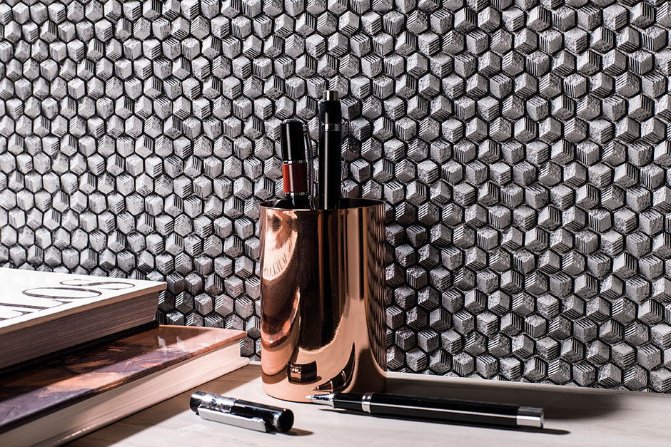 metal mosaics from Porcelanosa