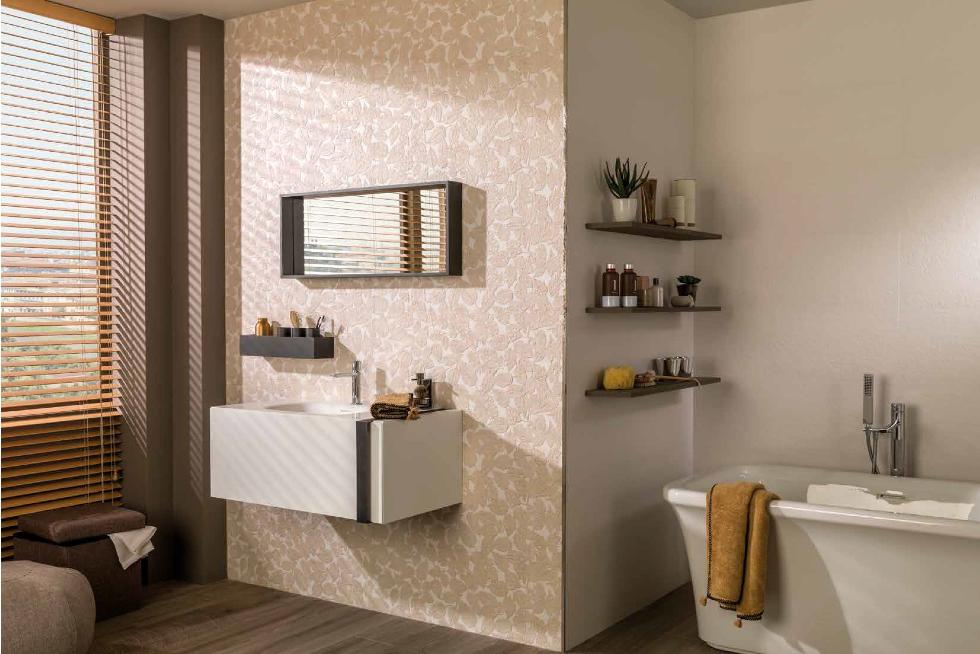 Porcelanosa Bathroom Accessories Nature Inspired Look Tiles And Bathroom Furniture
