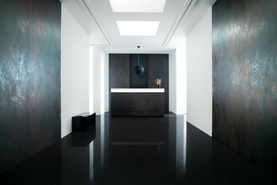 Image Caption Floor Tile Basic Dark Nature Wall Nox Corten