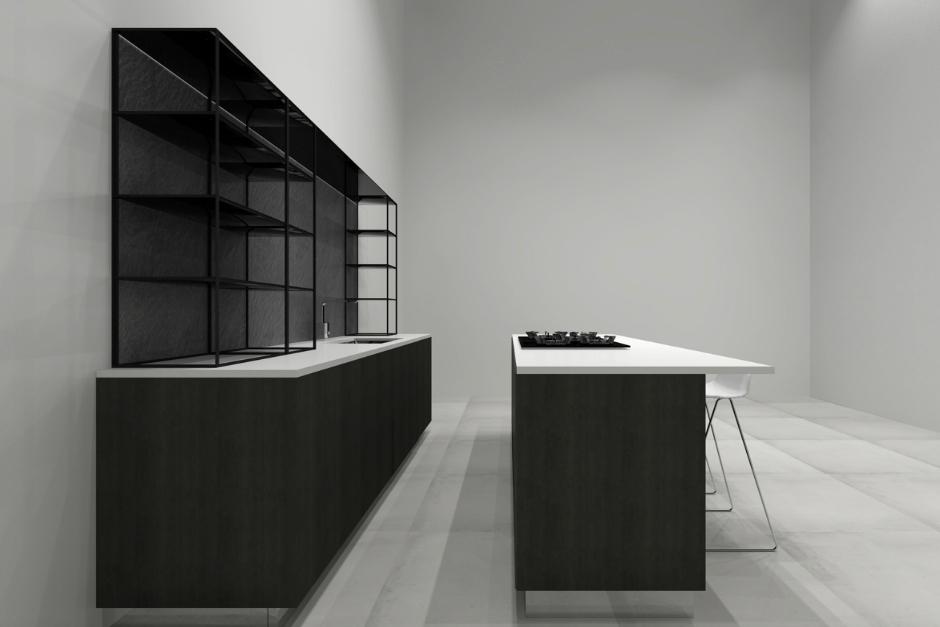 Image Caption: Island Kitchen