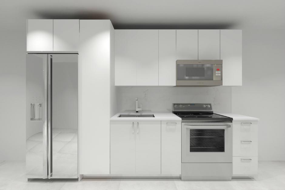 Image Caption: Linear Kitchen