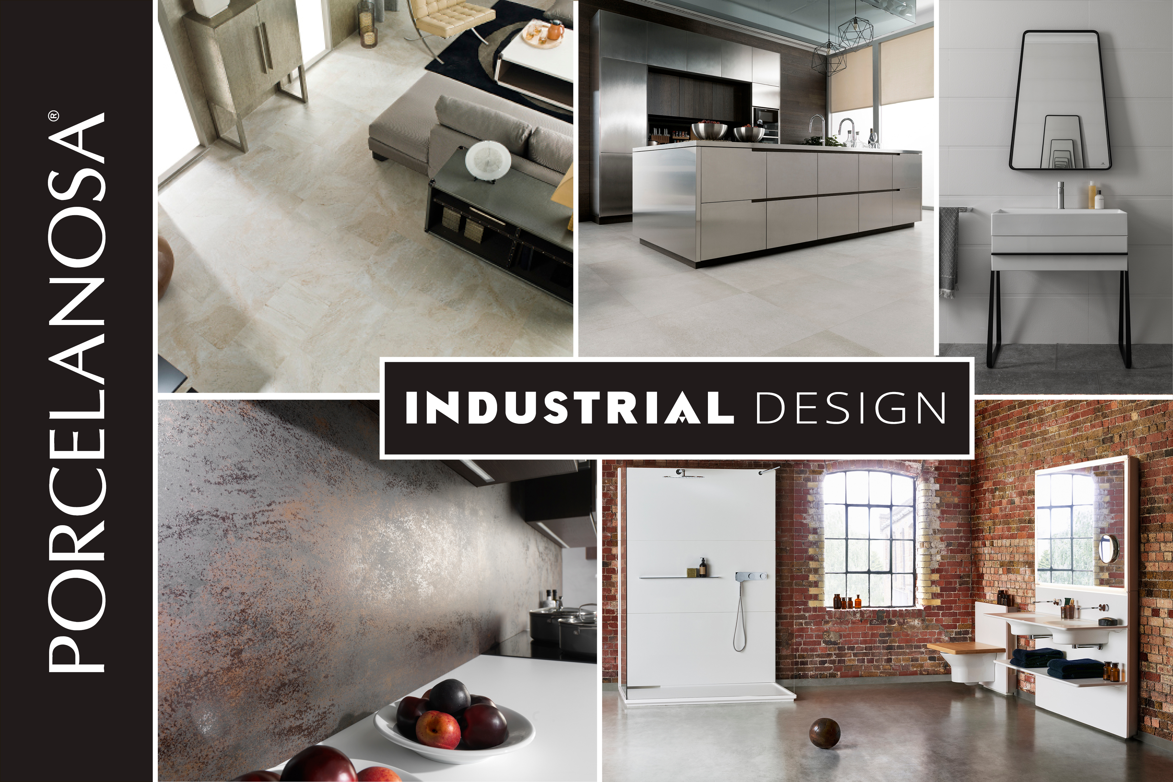 porcelanosa industrial style, industrial interior design
