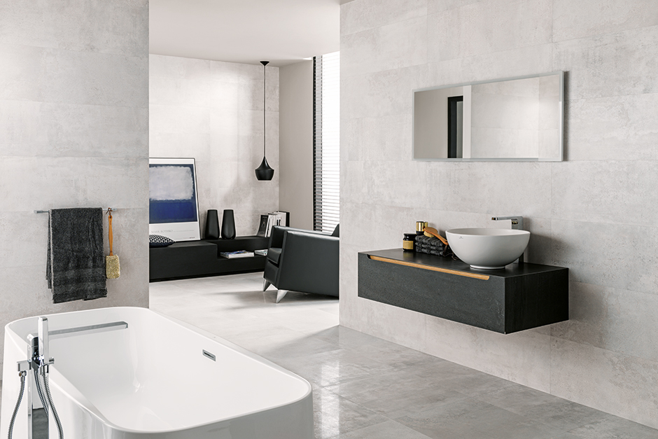 Metropolitan tile collection porcelanosa 39 s floor and wall - Porcelanosa carrelage salle de bain ...