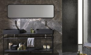 vintage bathroom collection, natural stone bathroom