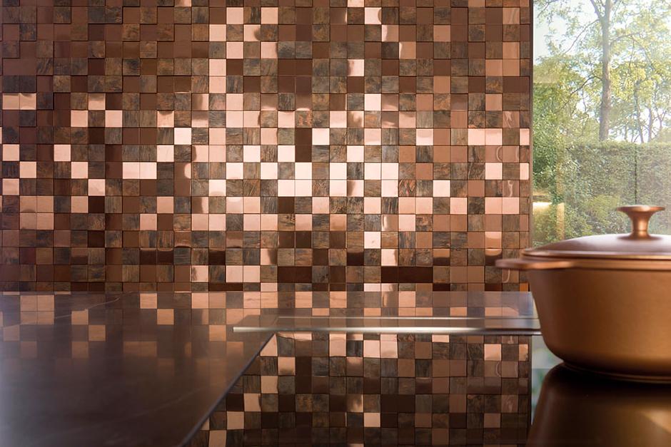 metal bronze 3d cubes