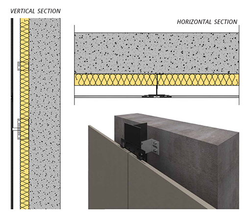 Fire Resistant Wall Spacers : Porcelanosa facades