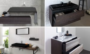 Stone and Wood Vanity
