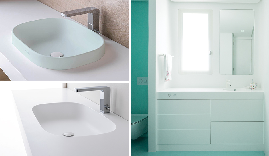 Krion Bath Vanity and Sinks