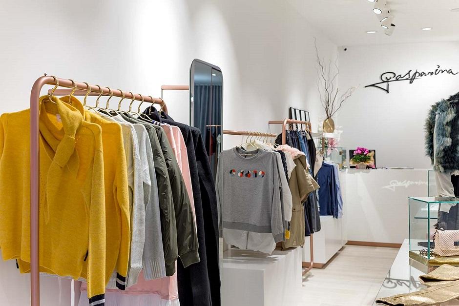 Gasparina Clothing Display