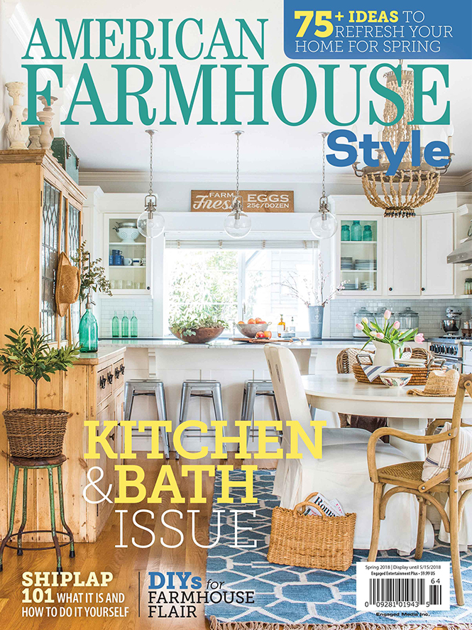 Press porcelanosa for American farmhouse style