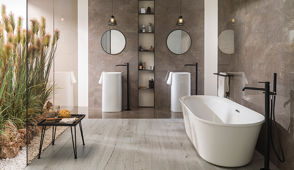 Durable Beautiful Wood Look Porcelain Tiles Shine Indoors